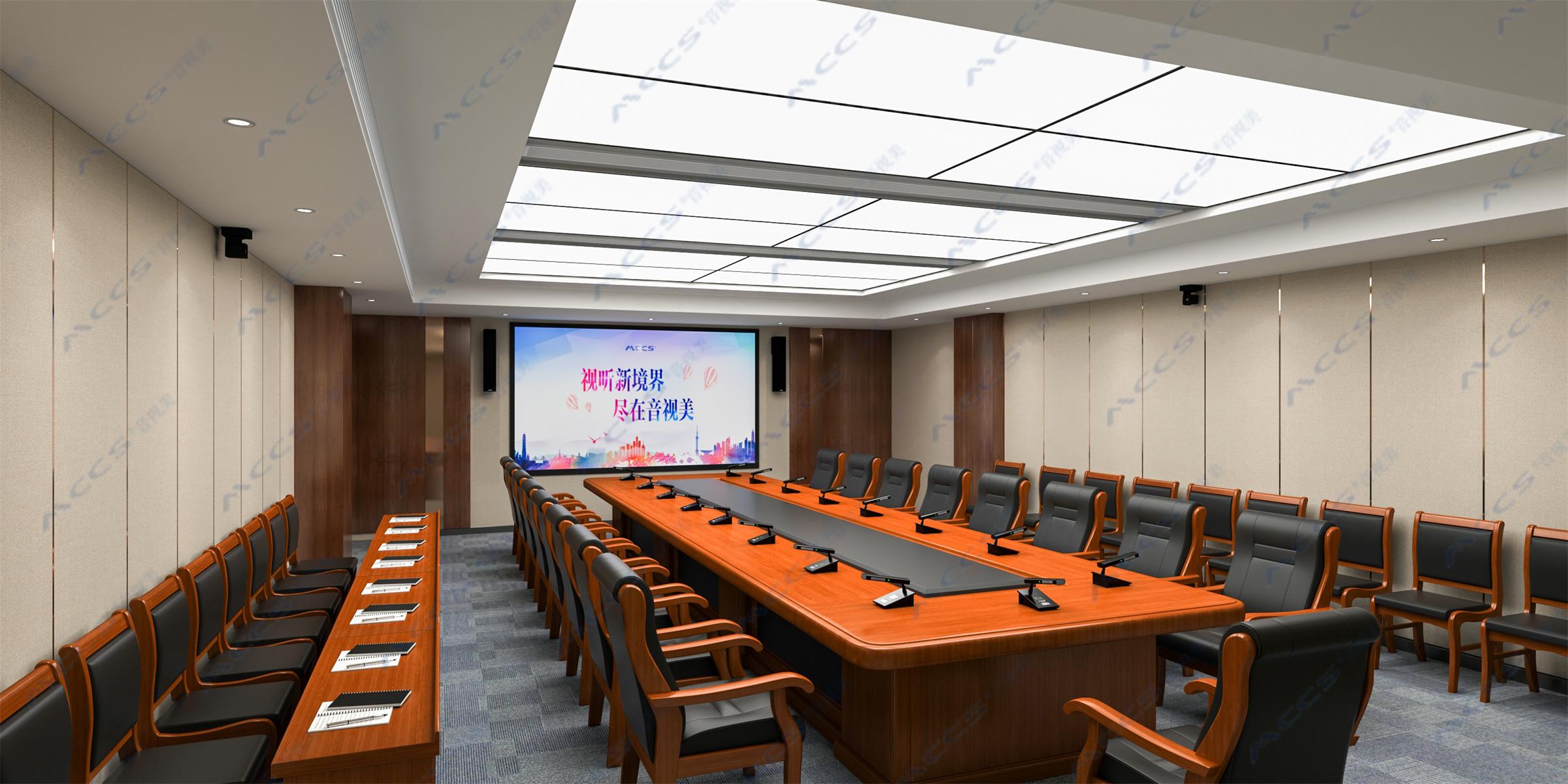 方形桌会议室效果图2